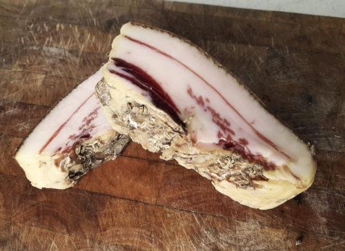 guanciale charcuterie italiaanse vleeswaren italie italiaans luxe kinnebak gedroogd gezouten